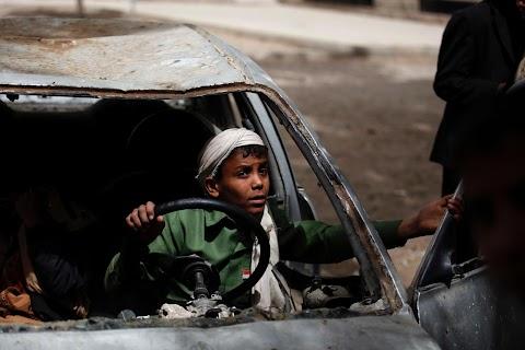 Yemen orphanage braves nearby air strikes