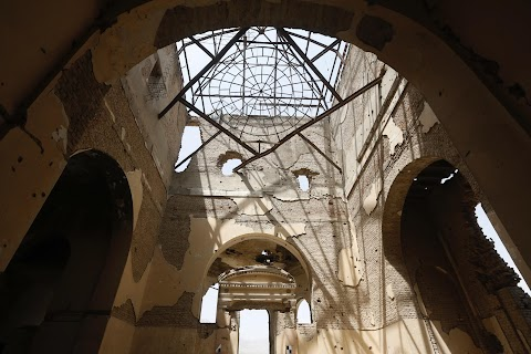 In the ruins of Kabul's Darul Aman palace