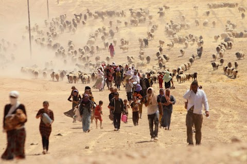Fleeing through Iraq