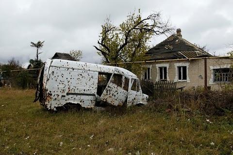 War-scarred neighbourhoods in rebel-held Donetsk