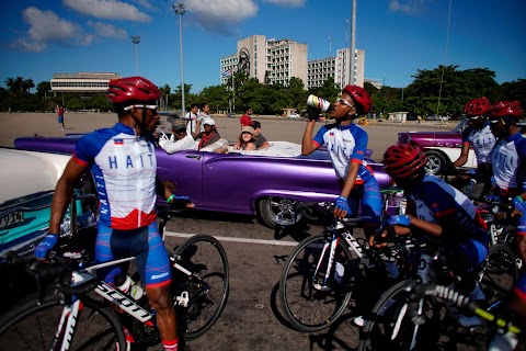 Haiti's cyclists brave protests and poor roads in race for gold