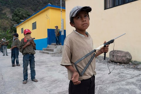 """Under siege"": inside Mexican village where children are armed"