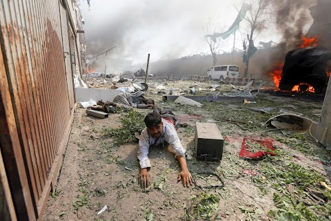 Photographing carnage in Kabul