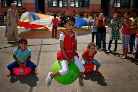 On holiday in Gaza's summer camps
