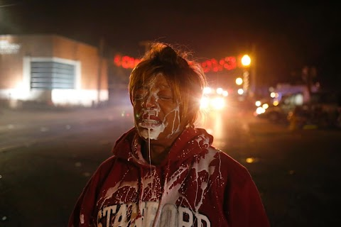 Tears and tear gas in Ferguson