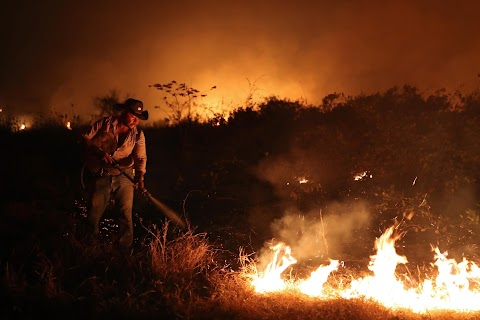 In Brazil, it's not just the Amazon that's burning. The world's largest wetland is on fire too