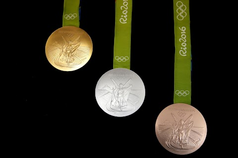 Olympic gold, bronze and recycled silver
