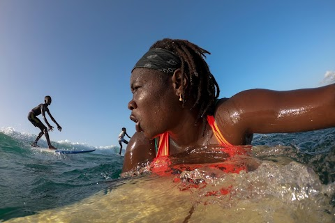 Meet Senegal's first female pro surfer inspiring girls to take to the waves