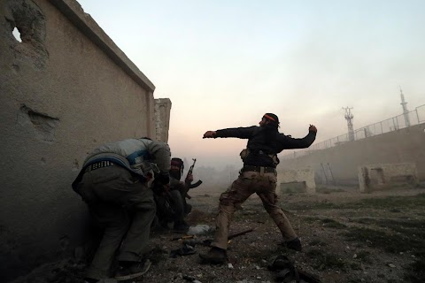 Battle in a Syrian army base