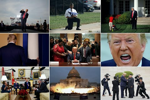 Protests, rallies and two impeachments: Trump's presidency in photographs