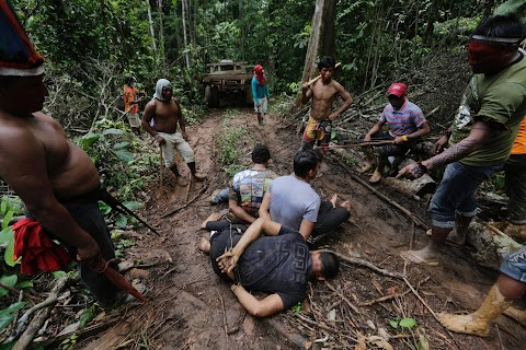 Amazon warriors fight off loggers
