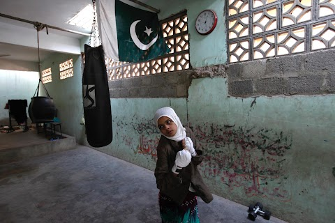 Boxing for girls in Karachi