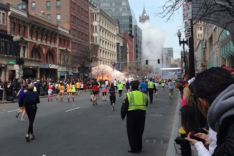 Carnage at Boston Marathon