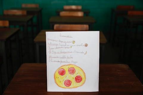 Venezuelan children express hunger in drawings