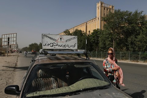 Behind the wheel in Kabul