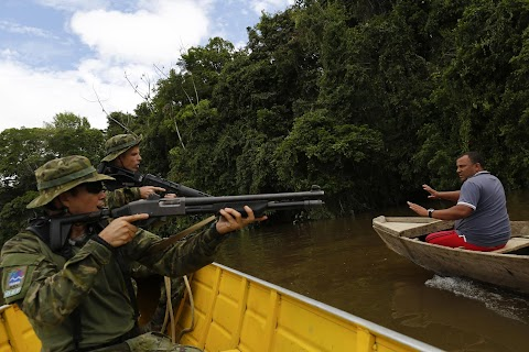 Illegal gold mining in the Amazon