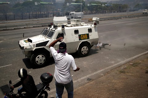 One Venezuelan protester's brush with death