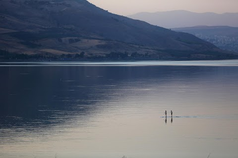 The Sea of Galilee: receding waters of biblical lake