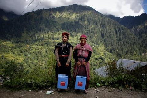 Doctors scale rockslides, invoke gods to vaccinate Himalayan villages