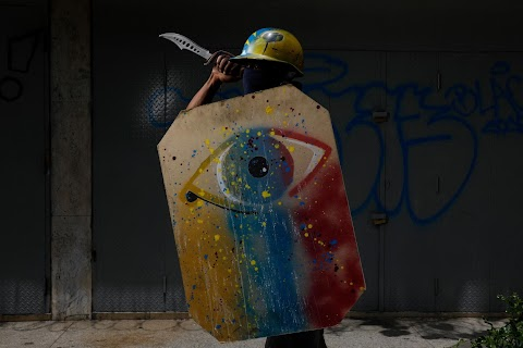 Venezuela's shield-bearing protesters
