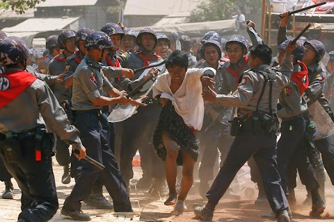 Student protests in Myanmar