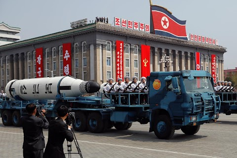 North Korea on parade