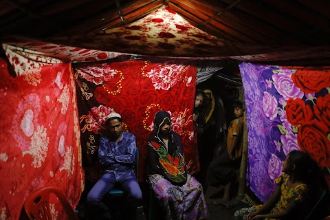 Wedding in a Rohingya refugee camp