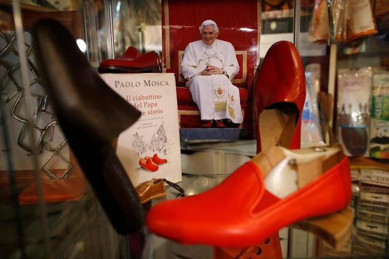 The Pope's red shoes by Tony Gentile