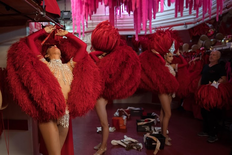 Keeping the show on track at the Moulin Rouge for 130 years by Philippe Wojazer