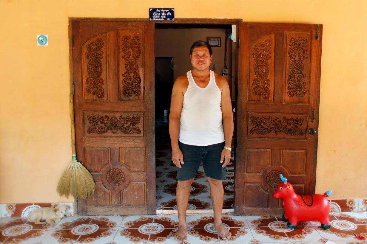 ボーケーオの自宅で取材に応じるKongkaew Vonusak さん。(2017年 ロイター/Jorge Silva)