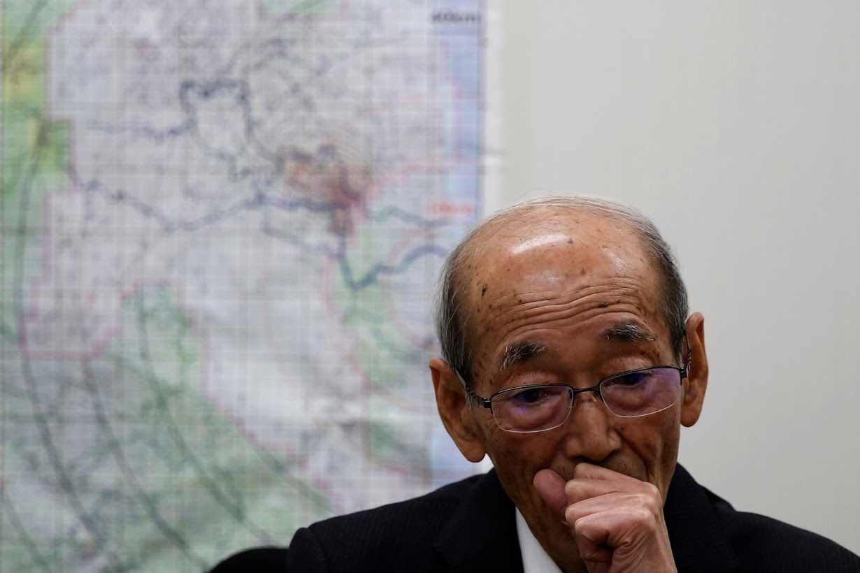 ロイターのインタビューに答える浪江町の馬場有町長。二本松市で2月撮影(2017年 ロイター/TORU HANAI)